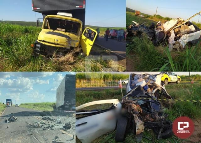 Grave acidente ceifa a vida de uma pessoa na PR-180, em Goioerê