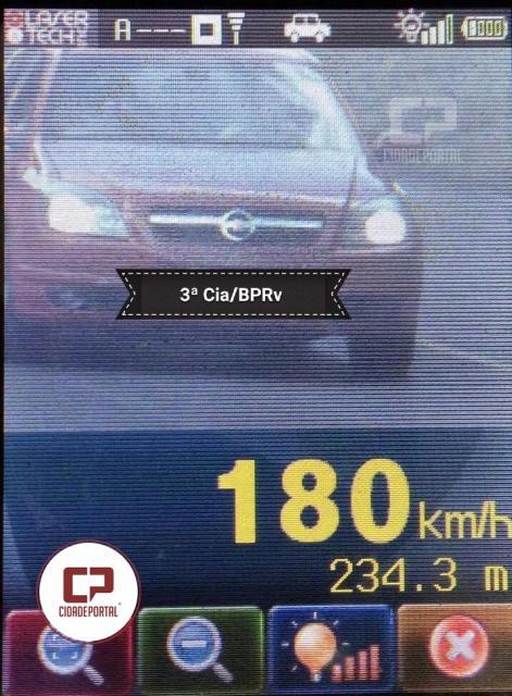 Motorista é flagrado a 180 km por hora entre Assis Chateaubriand e Toledo no Paraná