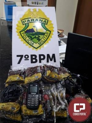 Equipe policial encontra maconha, celular e carregador de celular próximo à penitenciária em Cruzeiro do Oeste