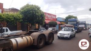 Carreata em protesto contra os preços dos combustíveis une Caminhoneiros, Campo e Cidade