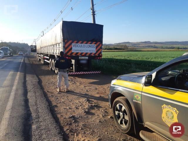 Em menos de 12 horas, PRF apreende 3 carretas carregadas com cigarros contrabandeados no Paraná