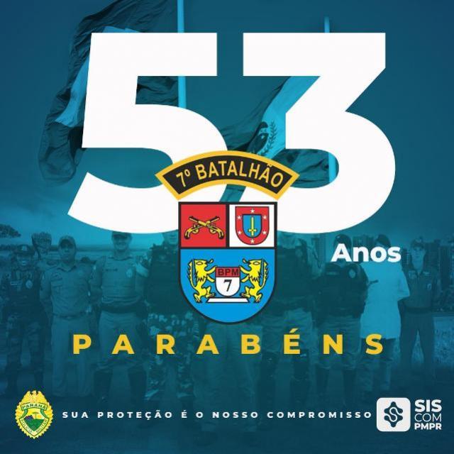 7º BPM em Cruzeiro do Oeste completa 53 anos de história nesta quinta-feira, 24