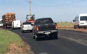 PR-180 entre Goioerê e Quarto Centenário recebe reparos emergenciais
