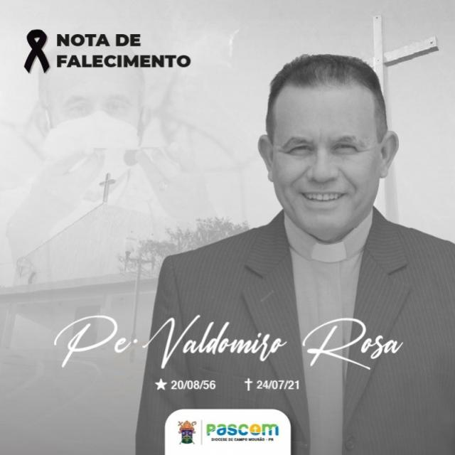 Padre Valdomiro de Rancho Alegre d'Oeste morre de Covid-19 neste sábado, 24