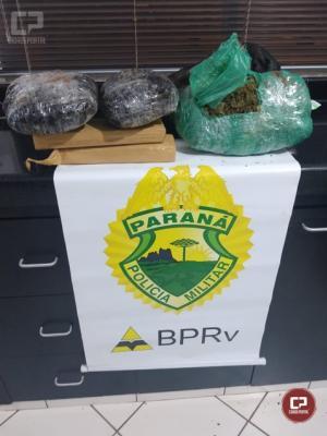 PRE de Cruzeiro do Oeste apreende drogas sendo transportadas dentro de ônibus de linha