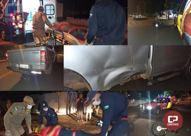 Motociclista fica ferido em acidente na noite deste sábado, 24, em Goioerê