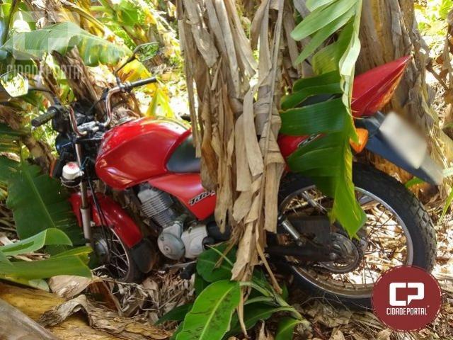 Fruto de ligação anônima, Polícia Militar recupera motocicleta roubada em Goioerê