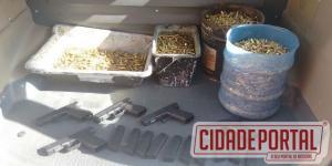 Policiais Militares prende homem por porte ilegal de arma de fogo