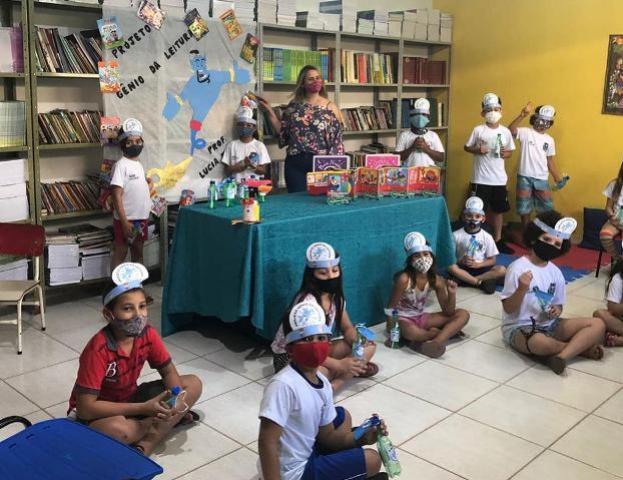 """Escola Monteiro Lobato desenvolve projeto de leitura """"Gênio da Leitura"""""""
