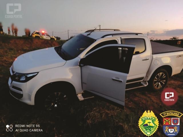 Polícia Militar de Tuneiras do Oeste recupera camioneta roubada em Itambaracá