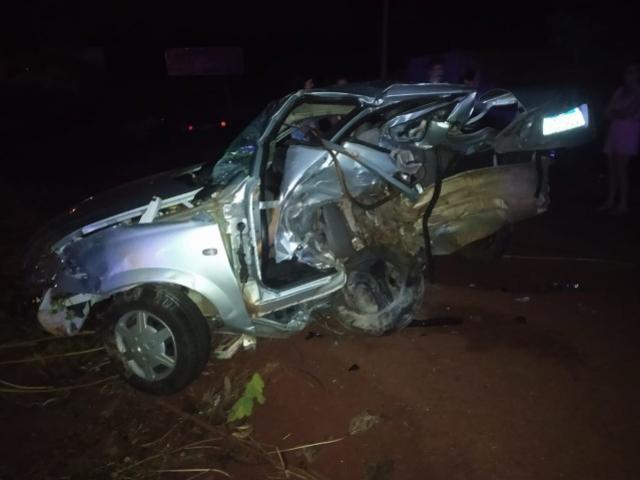 Uma pessoa morre e outras duas ficam feridas após acidente em Medianeira