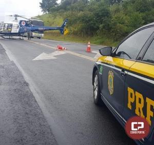 Uma senhora morre e bebê fica ferido em acidente no município de Tibagi