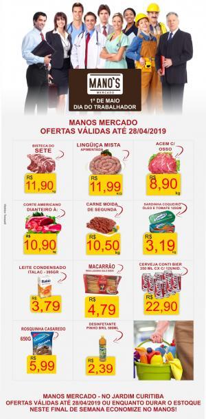 Final de Semana com Economia? vai para o Manos Mercado! - aproveite as ofertas até domingo dia 28