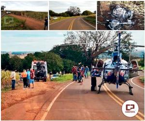 Pai e Filha sofrem acidente com moto na PR-317, filha não resiste e perde a vida no local
