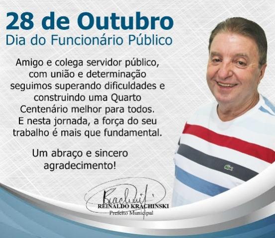 28 de Outubro, dia do funcionário público
