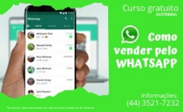 ACIG traz curso online gratuito para associados de como vender pelo Whatsapp