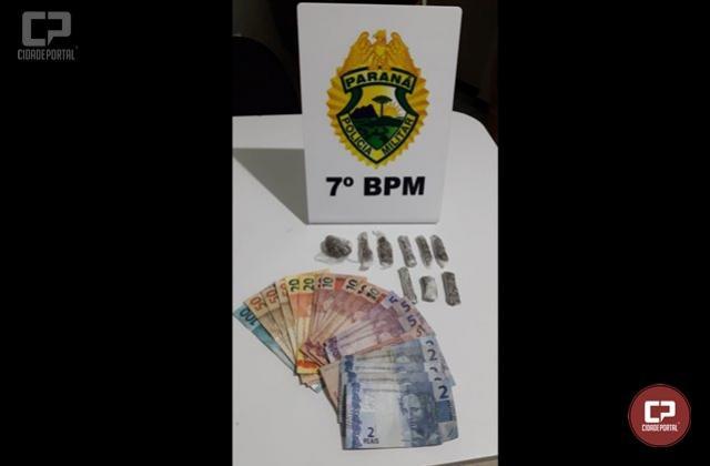 Durante patrulhamento, Rotam apreende menor vendendo drogas em Tapejara