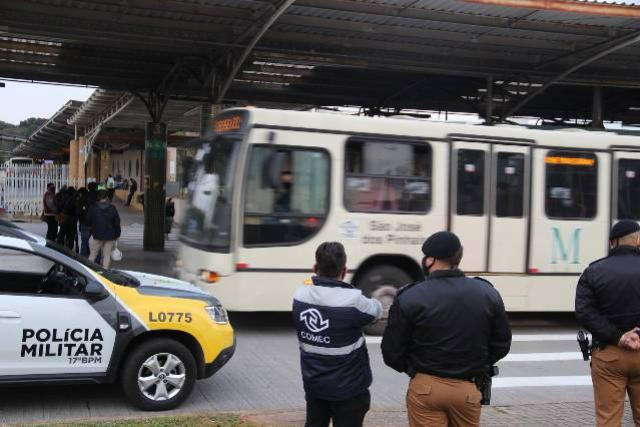 Roubos em ambientes do transporte coletivo caem 48,6% no primeiro semestre no Paraná