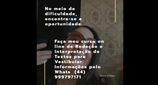 Serão apenas 6 vagas para inscrição no curso on-line da Professora Vera Ribeiro de Carvalho