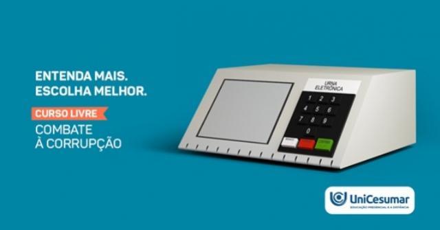 Em parceria com o Instituto Mude, Unicesumar oferece curso on-line gratuito sobre cidadania e combate à corrupção