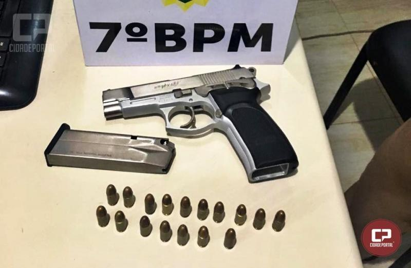 Uma pessoa foi presa por porte ilegal de arma de fogo em Goioerê