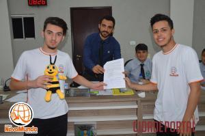 Alunos do 2º anodo Colégio Novo Mundo apresentam projetos a vereadores de Goioerê