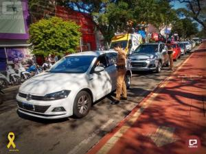 Polícia Militar realiza Campanha Maio Amarelo em Maringá
