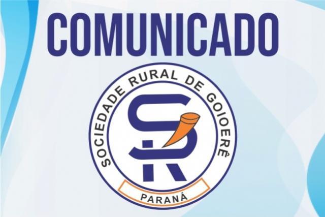Sociedade Rural de Goioerê oficializa o cancelamento da ExpoGoio 2020