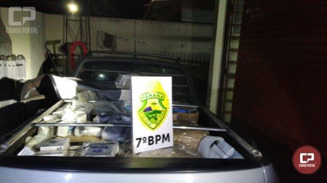 Durante patrulhamento Polícia Militar apreende veículo carregado com diversos produtos eletrônicos em Tapira