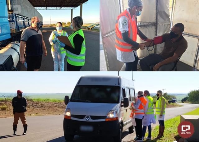 PRE realiza Operação Divisa em Santo Inácio e encaminha caminhoneiro para UBS com diagnóstico de infarto