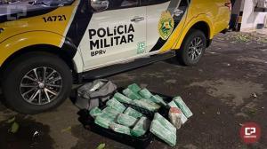 PRE de Cianorte apreende drogas sendo transportadas em ônibus de linha