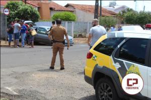 Grave acidente automobilístico deixa uma pessoa com ferimentos na tarde de sábado, 28