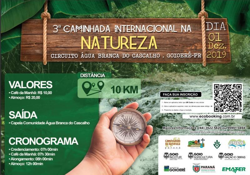 Goioerê e Emater promovem a 3ª Caminhada Internacional da Natureza neste domingo, 01