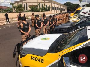 Operação Sinergia foi realizada pela Polícia Militar na cidade de Goioerê