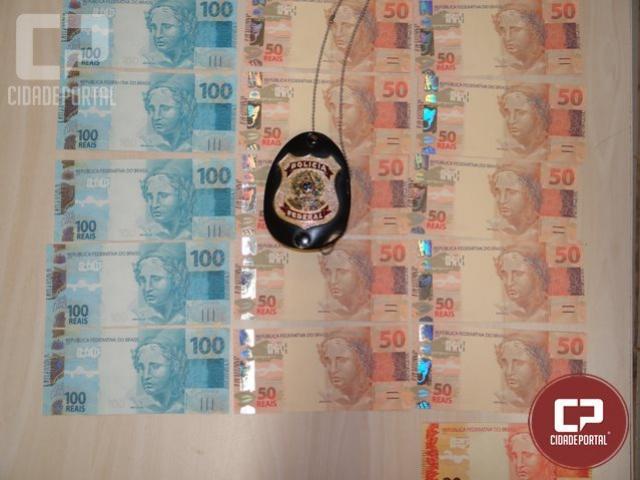 Policiais Federais prenderam em flagrante um homem que estava recebendo cédulas falsas Maringá