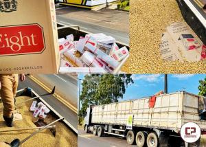 PRE apreende carregamento de cigarros contrabandeados em Cruzeiro do Oeste