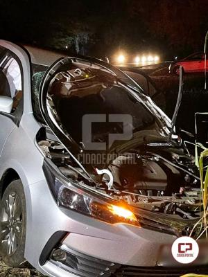 Motociclista fica ferido em acidente na PR-323 na noite deste sábado, 29