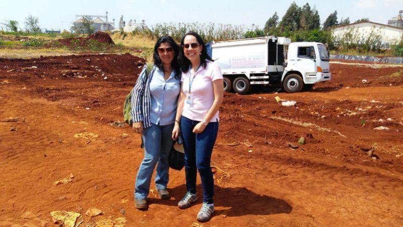 Aterro Sanitário de Rancho Alegre D'Oeste recebe visita técnica da Engenheira Daniele Botelho de Souza