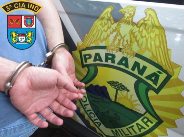 3ª CIPM detém homem após causar dano ao patrimônio público em Itaúna do Sul