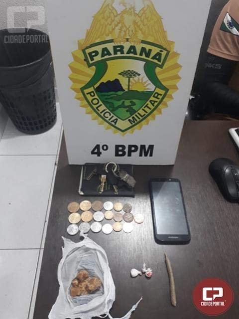 Polícia Militar realiza prisão por tráfico de drogas em Maringá
