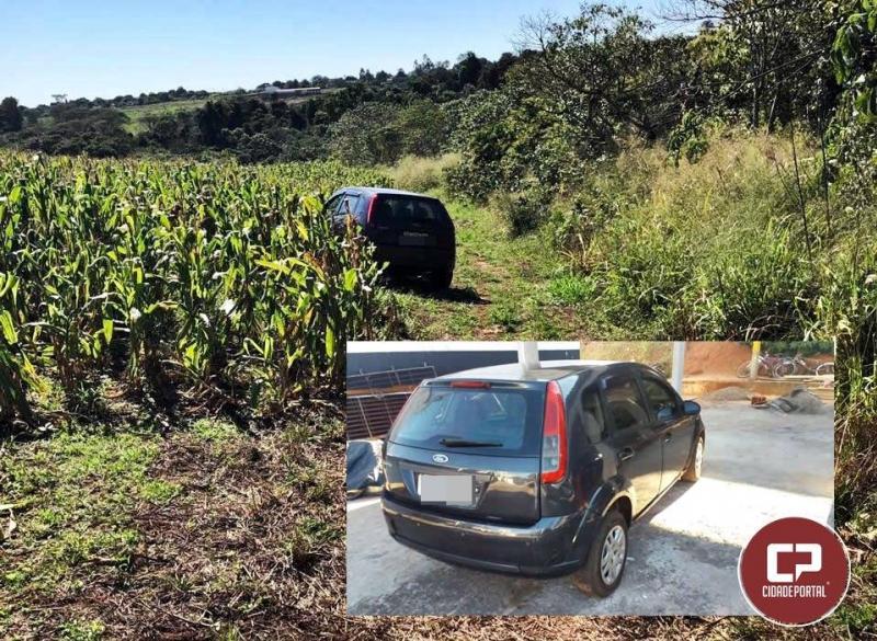 Polícia Militar de Goioerê recupera veículo furtado em Mauá/SP na Estrada da Pedreira