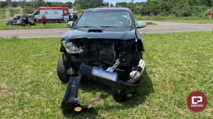 PRE de Cianorte presta atendimento a acidente na PR-323 que deixou duas pessoas feridas