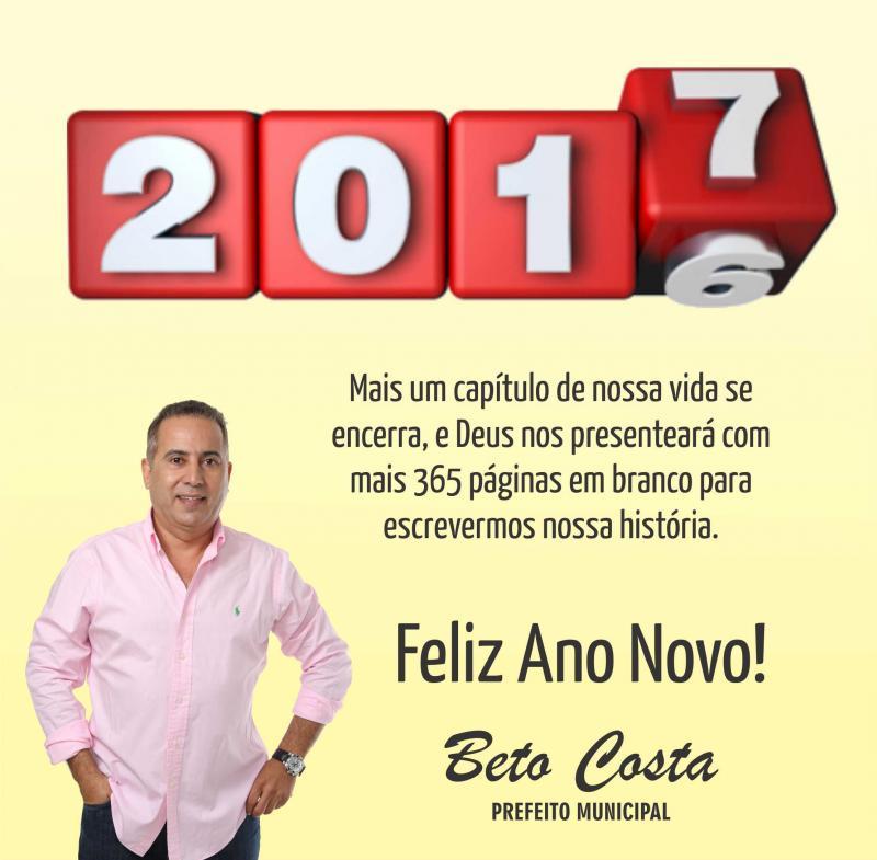Mensagem de Ano Novo do prefeito Beto Costa