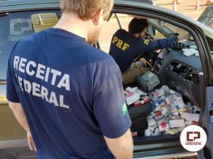 PRF e Receita Federal apreendem grande quantidade de medicamentos e anabolizantes na BR-369 em Ubiratã-PR