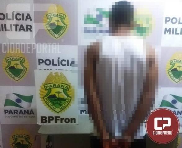 Batalhão de Polícia de Fronteira durante patrulhamento cumpre mandado de prisão em Guaira/PR