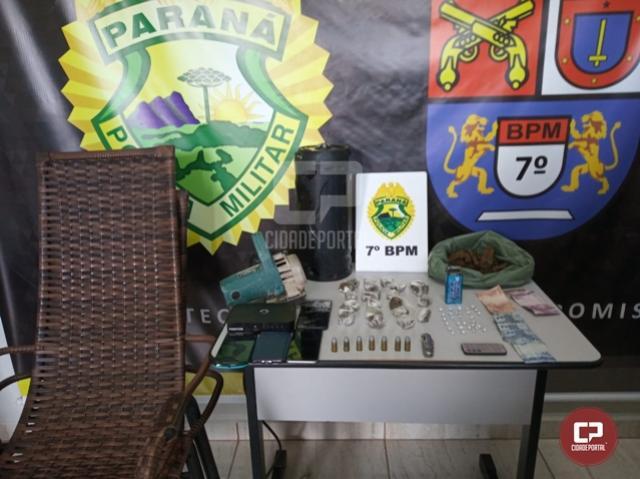 Polícia Militar apreende drogas e armas de fogo em Cruzeiro do Oeste