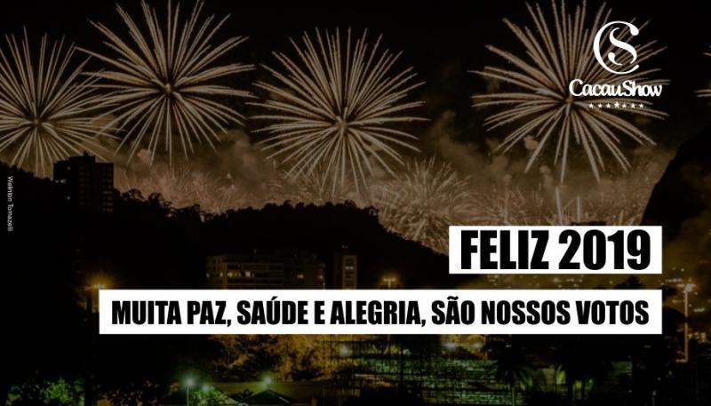 A Família Cacau Show deseja um Ano Novo repleto de Felicidade e Paz!