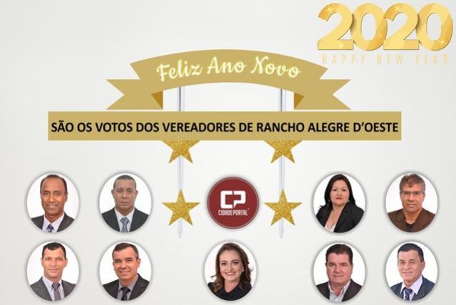 Os vereadores de Rancho Alegre D Oeste desejam um 2020 repleto de realizações!