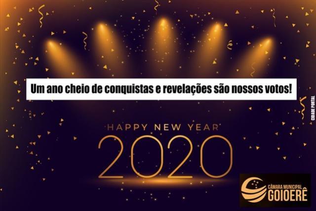 A Câmara Municipal de Goioerê deseja a todos um Feliz Ano Novo e um próspero 2020!