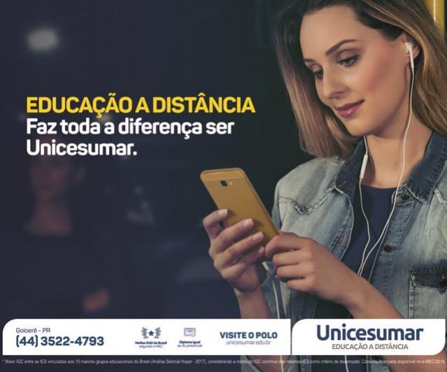 A Família Unicesumar - EAD Goioerê deseja a todos um próspero Ano Novo e um 2020 repleto de sucesso!